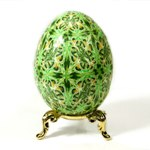 Green Kaleidoscope Design Art Egg