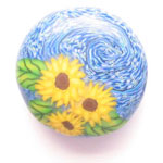 Starry Night Sunflowers Bead