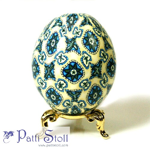 Spanish Tile Art Egg - Click Image to Close