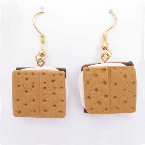 S'Mores Earrings - Celebrate Camping! - Click Image to Close