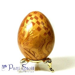 Gold Ghost Design Art Egg