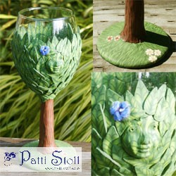 Dryad - Tree Deva Spirit Wine Glass Female