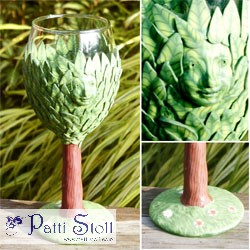 Dryad - Tree Deva Spirit Wine Glass Male